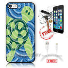 iPhone 7 PLUS (5.5') Case Cover Tempered Glass Film A4184 Dot Art Turtle