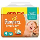 Pampers Simply Dry - Taglia 3 - 4 - 5 - Jumbo pack - 2 confezioni