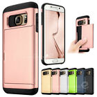 Slim ID Card Holder Wallet Silicone Case Cover for Samsung Galaxy S6 /edge /Plus