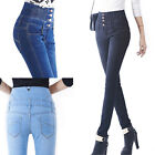 New Women High Waisted Stretch Super Skinny Fit Denim Jeans Jeggings Pants 8-16