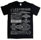 STAR TREK USS VOYAGER T-shirt S - 5XL blueprints specs janeway starfleet tuvok on eBay