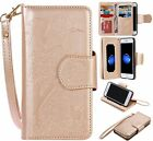 Luxury Leather Magnetic Mirror Wallet Card Slot Cover Case For iPhone 6 7 7 Plus