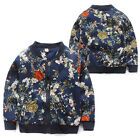 New Children Kids Boys Casual Floral Round Neck Coats Baseball Jackets Outwear