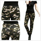 New Womens Army Military Camouflage Skinny Slim Fit Stretch Jeans Pants Trousers