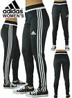 Women's Adidas Soccer Pants Tiro 15 Slim Fit  Climacool Black Skinny Athletic