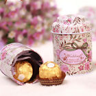 Flower Christmas Tins Sugar Coffee Tea Tin Jar Container Candy Sealed Cans Box