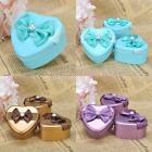 12/24PCS Heart Tin Favors Candy Boxes Wedding Party Gift Shower Gold/Blue/Purple