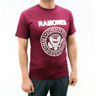 Ramones Punk Rock Band Graphic T-Shirts Burgundy