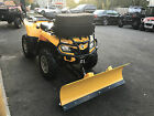AS BRAND NEW 2009 CAN AM OUTLANDER XT 800R EFI WITH BRAND NEW SNOW PLOW , WINCH
