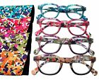 MONET Artsy Retro Round Flower Reading Glasses Spring Hinge Case +1.00 - +4.00