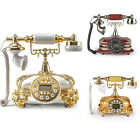Old Fashioned Antique Home Telephone Retro Vintage Push Button Dial Desk Phone