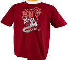 Christmas Vintage North Pole Santa and Sleigh Seasonal Holiday T-Shirt