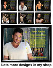 Peter Andre, Frame Picture Clock, Not Cd Clock, Music, Gift, Birthday Xmas, Gift