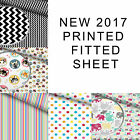 Patterned Printed Fitted Sheet Kids/Girls/Boys/Adults Cotton Luxury Quality Cott