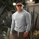 Men's Workout Pullover Gym Athletic Fit Long Sleeve Sweatshirt Hoodies T Shirt