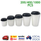 Take Away Single Wall Coffee Cups White (4/6/8/12oz) Disposable Sippa Lid