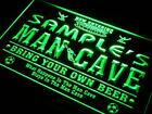 qd-tm Name Personalized Custom Man Cave Soccer Bar Beer Neon Led Sign