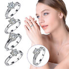 Charming women Round ring White Gold Plated Womens jewelry Ring Engagement