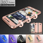 Hybrid 360° Full Body Protector Case Cover +Tempered Glass for Samsung Galaxy J3