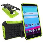 Shockproof Rugged Hybrid Rubber TPU Cover Case + Tempered Glass Film For LG