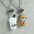 2pcs Fashion Milk Biscuit  Ice Cream Charms Necklace Best Buds Gift For Friend