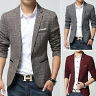 Fashion Men's Casual Slim Fit Formal One Button Suit Blazer Coat Jackets  XS-XL