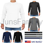 Mens 100%COTTON THERMAL TOP Long Sleeve Waffle Shirts Crew Neck Underwear