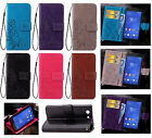 For LG Xiaomi Huawei Phone Emboss Clover Strap Wallet Card Leather Case Cover SD