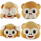 Wholesale bulk 24pc Emoji Soft Pillow Funny Monkey Emoticon Style