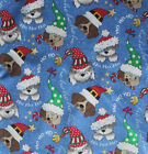 Dog Bandana Christmas over the collar, dog bandana, christmas dogs light blue