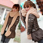 Classic Hot Women's Winter Fleece Scarf Set 3 In 1 Scarf Hat And Gloves Set Suit
