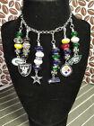 NFL Packers, Cowboys, Raiders, Eagles, Seahawks  Floating Charm Locket Dangles