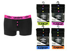 Umbro Men's Pack of 3 Button Fly Boxer Shorts