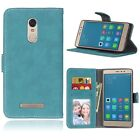 Retro Frosted Leather  Wallet Stand Card Slot PU Leather Case For  Phone