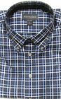 NWT -SCOTT BARBER-Blue, Button-Down, Cotton Blend CASUAL DRESS SHIRT - msrp $155