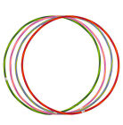 10 MULTICOLOUR HULA HOOPS, CHILDREN ADULT DURABLE PLASTIC INDOOR OUTDOOR FITNESS