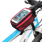 Bicycle Cycling Pannier Front Frame Top Tube Bag Bike TouchScreen Cell Phone Bag