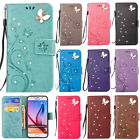 3D Bling Strass Fashion Flip Magnetic Stand Wallet PU Leather Lot  Cover Case GY