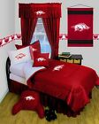 Arkansas Razorbacks Comforter Sham and Bedskirt Set Twin Full Queen LR