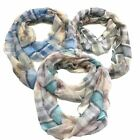 Infinity Scarf Top Fashionland Premium Soft Butterfly Plaid Sheer Infinity Scarf