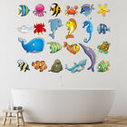 Under The Sea Wall Sticker Group Fish Whale Shark Wall Decal Kids Bathroom Decor