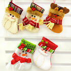 Christmas Stockings Decor Gift Bags Santa Claus Snowman Felt Sweet Candy Bags
