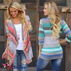 UK Womens Ladies Long Sleeve Knitted Cardigan Jumpers Sweater Outwear Coat Tops