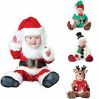 Baby Boy Girls Christmas Costume Newborn Infant Jumpsuit Santa Claus Clothing