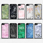 PERSONALISED MARBLE GRANITE INITIALS NAME CUSTOM PHONE CASE COVER