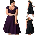 Fashion New Women's Casual Short Sleeve Plus Party Long Dresses Clubwear XL~5XL