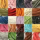 1mm/2mm Real Genuine Hide Leather Round Lace Thong Cord 1-20yards Jewelry Crafts
