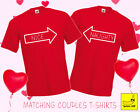 Naughty & Nice Matching Couples Christmas T-Shirts Love Gift His Her Married Tee