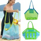 Children Toy Shell Collect Grid Beach Bag Tote Mesh Backpack Stay Away From Sand