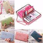 Women Lady Leather Wallet Purse Long Handbag Clutch Box Phone Bag Card Holder
